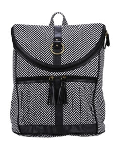 Black & White Printed Laptop Bag - SUNNY ACCESSORY