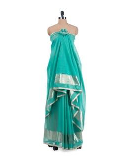 Turquoise  Saree - URBAN PARI