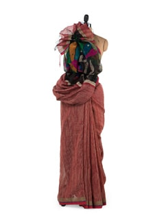Peacock Motif Red Silk Saree - Story Of Weaves