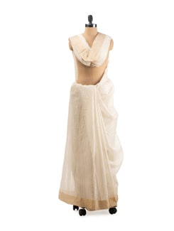 Chanderi Silk Cotton Saree - URBAN PARI