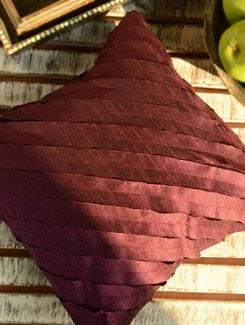 Cut Work Cushion Cover-Purple - Nakalchee Bandar