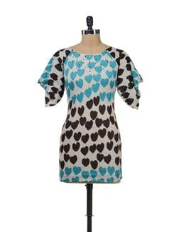 Hearts Print Dress - SPECIES