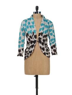 Hearts Print Coat Style Shrug - SPECIES