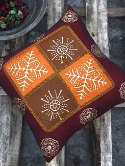 Set Of Two Cushion Covers In Rust And Sunset Orange - Ruhaan's