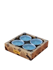 Kuheli Morning Raga T-Light Candles - Mango Scented - (Set Of 4) - India Circus