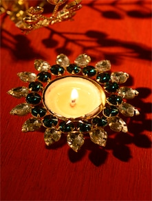 Green Tea Light Candle Holder - Ambbi Collections