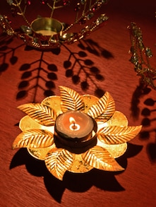 Golden Tea Light Candle Holder - Ambbi Collections