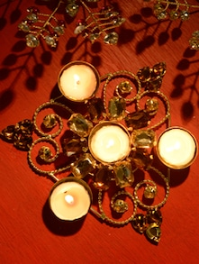 Traditional Gold Tea Light Candle Holder - Ambbi Collections