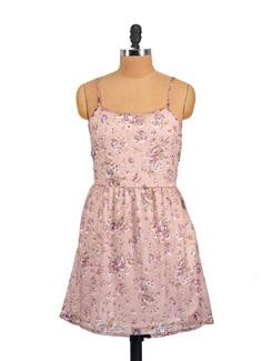 Strappy Tan Dress - Myaddiction