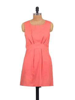 Chic Coral Sheath Dress - Myaddiction