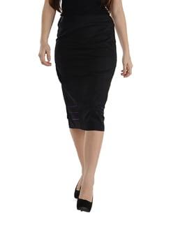 Black Long Skirt - Purplicious