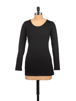 Classic Black Full Sleeved Top - GRITSTONES