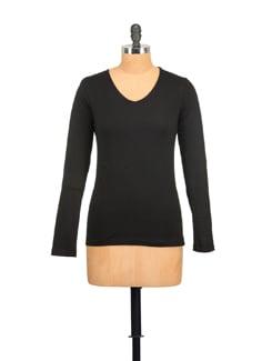 Basic Black Full Sleeved Top - GRITSTONES