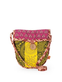 Printed Handloom Cotton Sling Bag - Desiweaves