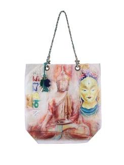 Multicolored Buddha Tote Bag - The House Of Tara