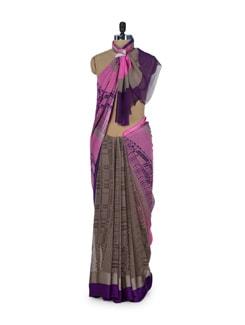 Checked Multicolor Saree - ROOP KASHISH