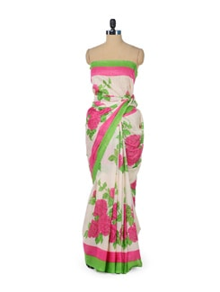 Pink Rose Blush Saree - ROOP KASHISH
