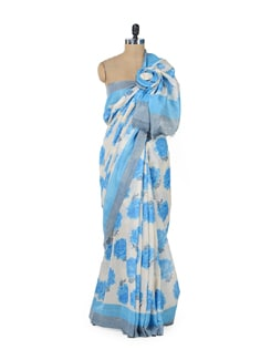 Designer Blue Rose Saree - ROOP KASHISH