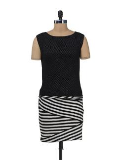 Zigzag Polka Dress - Color Cocktail
