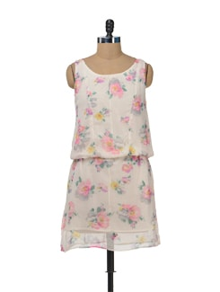 Feminine Floral Dress - Color Cocktail