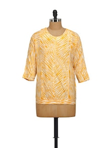 Ross Yellow Cotton Top - STYLE QUOTIENT BY NOI