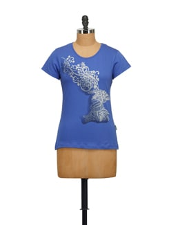 Floral Deer Print T-Shirt - STYLE QUOTIENT BY NOI