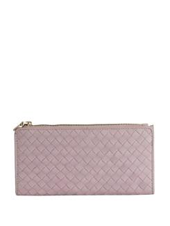 Weave Motif Baby Pink Wallet - Eske