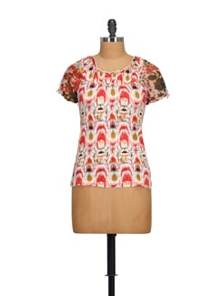 Abstract Print Peasant Top - House Of Tantrums
