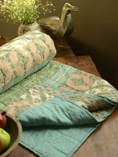Floral Print Double Bed Quilt - Morning Blossom