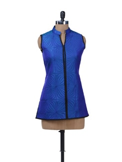 Electric Blue Quilted Jacket - Vedanta