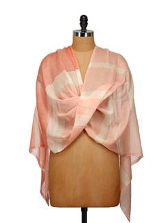 Fine Wool Striped Shawl - Elabore