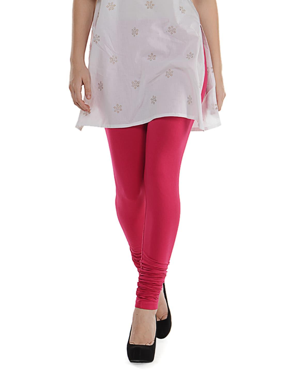 Pink Cotton Leggings - SORRISO