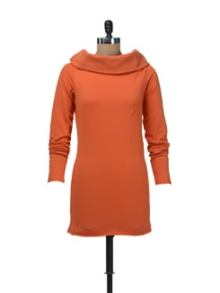 Fleece Off Shoulder Tunic - Femella