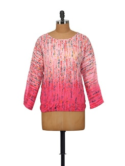 Printed Pink Top - House Of Tantrums