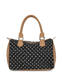 Star Print Quilted Handbag - SUNNY ACCESSORY