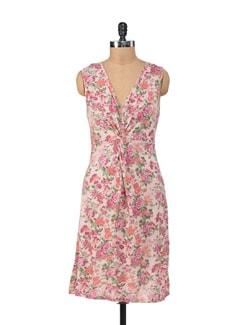 Ruched Floral Dress - NUN