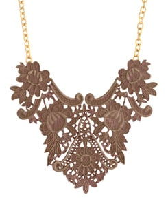 Brown & Gold Statement Necklace - YOUSHINE