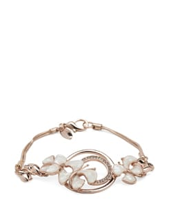 Paradise 14k Rose Gold Plated Bracelet - Ivory Tag