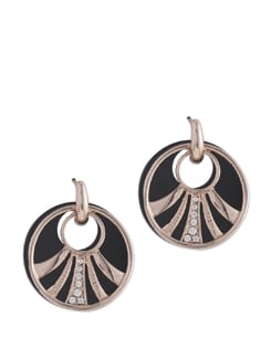 Alice Waves 14K Rose Gold Plated Earrings - Ivory Tag