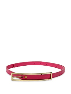 Candy Pink Long Buckle Belt - Lino Perros