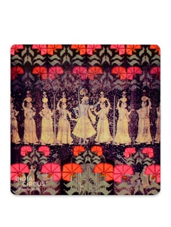 Neo Nawab Cosmic Courtesan MDF Coasters - (Set Of 6) - India Circus