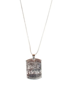 Friendship Day Everyday Pendant In Silver Plated Chain - DIOVANNI