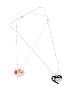 Boy And Gal Fall In Love Pendant Set - DIOVANNI