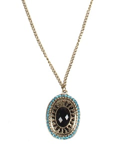 Eye Of The Peacock Statement Necklace - DIOVANNI