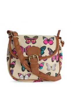 Printed Butterfly Sling Bag - Toniq