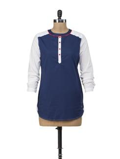 Jonah Navy Tunic Shirt - American Swan