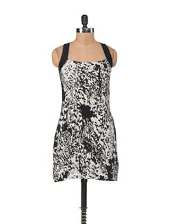 Black And White Printed Dress - SORRISO