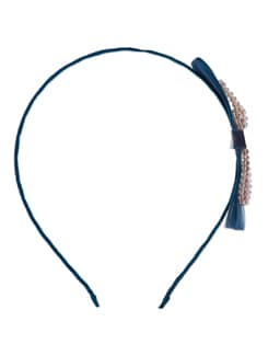 Blue & Gold Bow Hairband - YOUSHINE