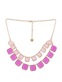 Pink & Gold Layered Necklace - YOUSHINE