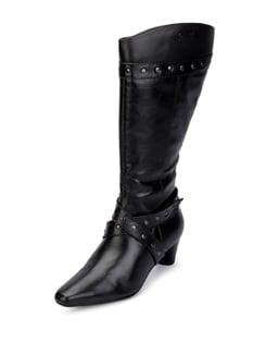 Leather Knee Boots - La Briza